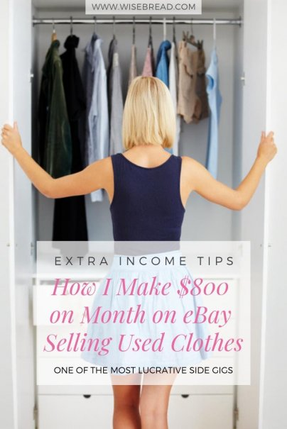 How I Make $800 on Month on eBay Selling Used Clothes