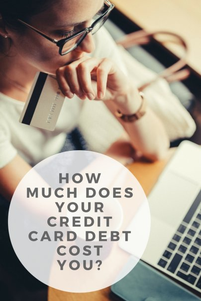 how much does your credit card debt cost you