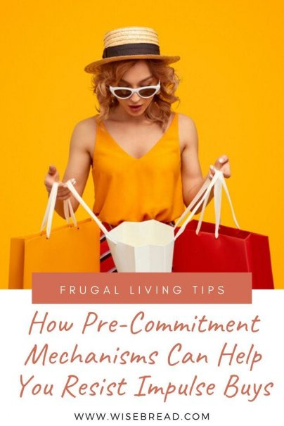 Want to overcome overspending and impulse buys? Here's what you need to know about pre-commitment mechanisms and how you can incorporate them into your financial decisions. #shopping #moneysaving #frugalliving