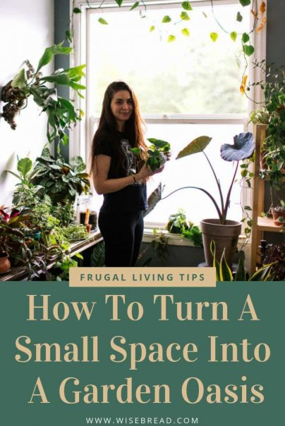 Do you have a small apartment? Or a studio with a small patio, or backyard? Whatever your small space is, we've got the best way to design your own DIY garden! With our tips, and ideas, almost any area can be turned into a garden oasis, no matter how diminutive the space! | #tinyhome #indoorgarden #gardeningtips