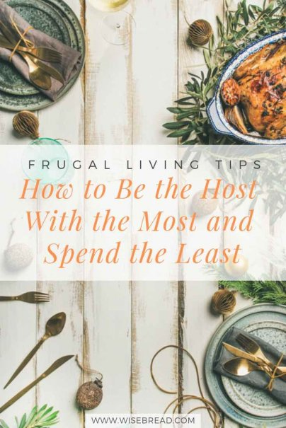 Hosting Christmas this year? Want to do throw a party thats budget friendly and cheap! Here are the tips and ideas on how you can be an amazing host, but spend the least. Frugal holidays here we come! | #moneysaving #frugalliving #hosting