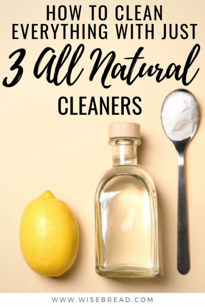 You don't have to spend a fortune to have a clean house. Here's how to save money by using all natural ingredients. We'v got the only three cleaning cleaning products you'll ever need. | #cleaningtips #sustainable #cleaninghacks