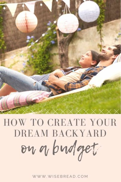 Want to give your backyard a budget makeover? We've got some great cheap DIY ideas to turn your garden into a fun and awesome space for those summer barbecues and get togethers. | #backyard  #DIYproject #homeimprovement