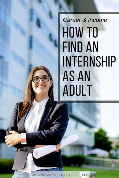 How to Find an Internship as an Adult