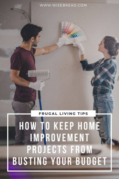 Engaging in necessary acts of home improvement doesn't have to bust your money savings, or take up all of your time. Here's what you need to know about keeping your home improvement projects from wrecking your budget. | #DIY #hometips #frugaltips