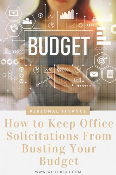 Are office solicitations becoming a regular drain on your paycheck? From workplaces gifts, to parties, to charity donations, we've got the tips to help you say no so you don't ruin your budget. | #careeradvice #workplace #careertips