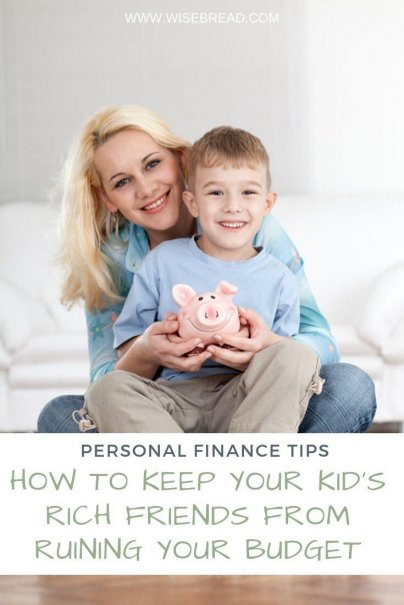 Does your child have wealthy friends? Here's how to keep your child in a frugal mindset, so you can stay on budget. | #frugalliving #frugaltips #savemoney
