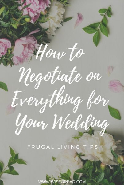 Planning a wedding and need ideas to make is more frugal and budget friendly? From food, to venue to flowers and more, we've got ways to save money on your special day. Here are 8 tips for negotiating with vendors and getting the best deals! | #wedding #frugalwedding #engagement