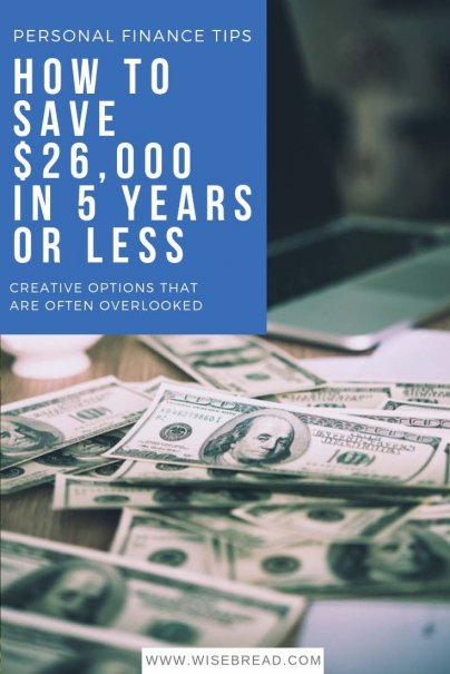 It's hard to find ways to put money aside, but here are a few creative options that are often overlooked. Check out the strategies below, and you could have $26,000 (or more!) stashed away in just five years. | #savingmoney #budgeting #savingtips