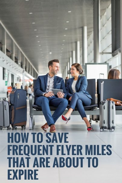 How to Save Frequent Flyer Miles That Are About to Expire
