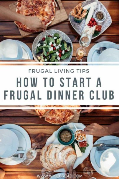 Dinner parties don't need to be expensive. If you want to enjoy dinner with friends, without spending a lot of money, starting a frugal dinner club is a great idea. Check out our tips on how to start! | #frugalfood #dinnerparty #cheapdinner