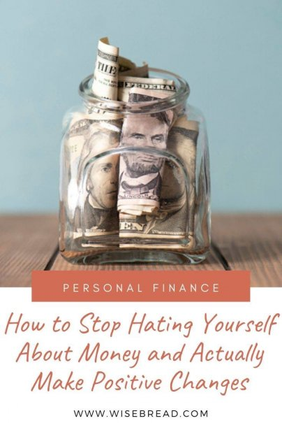 Bad money management leads to money guilt, which leads to more bad money management. Here's how to stop hating yourself and start making positive changes. | #finances #personalfinance #budget