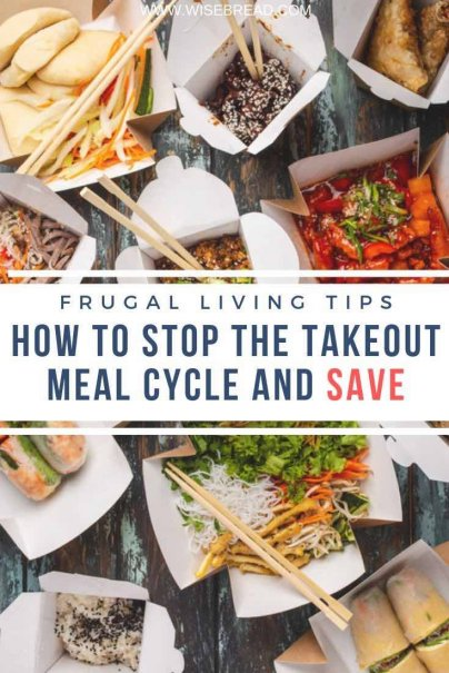 Eating takeout can be an expensive cycle. Find out how to break your takeaway habits and start saving money! | #takeaway #healthylifestyle #takeout