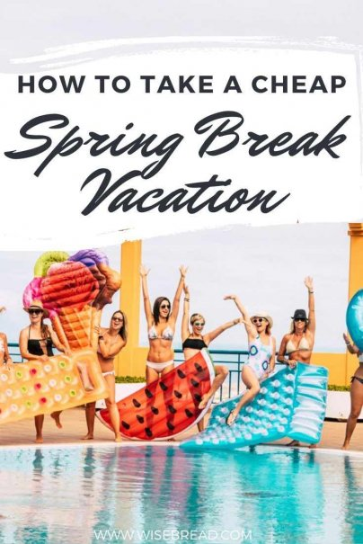 A Spring Break trip doesn't have to be expensive if you're willing to keep your travel plans flexible and expenses to a minimum. Here are some tips on how to go on a Spring Break trip without spending a ton of money. | #budget #springbreak #budgeting