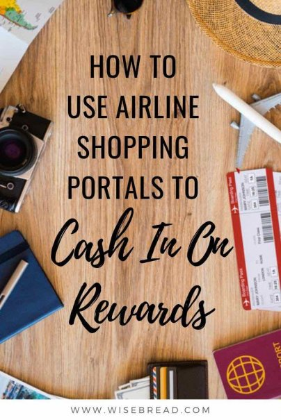 Airline shopping portals can offer you an easy and great way to earn extra miles for you to travel. We've got the tips on how airline shopping miles work, and how you can cash in! | #rewards #airlinerewards #shoppingrewards