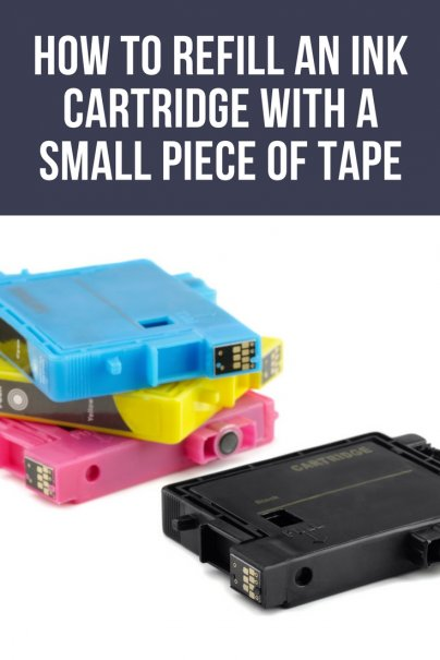 How to refill an ink cartridge with a small piece of tape