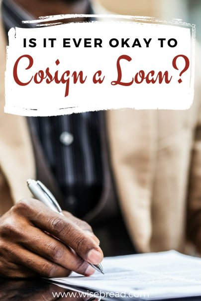 Is It Ever Okay to Cosign a Loan?