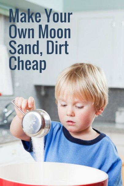 Make Your Own Moon Sand, Dirt Cheap