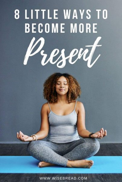 It's time to take a step back, be present, and be happier. Here are eight ways to get started to be more present and mindful in your life!   #grounded #mindfulness #selfcare