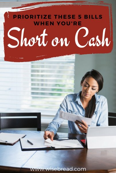 Prioritize These 5 Bills When You're Short on Cash