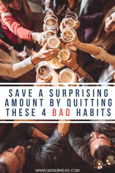 Bad habits are extremely costly — both to your wallet, and your health. Here's how much you could save if you gave up your bad habits. | #moneysaving #badhabits #habits