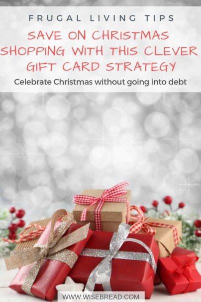 You can celebrate Christmas with gifts and decorations without going into debt. Using discounted gift cards is an ingenious way to stretch your budget further, save your money and minimize debt. | #moneysaving #frugalliving #moneymatters #christmashacks