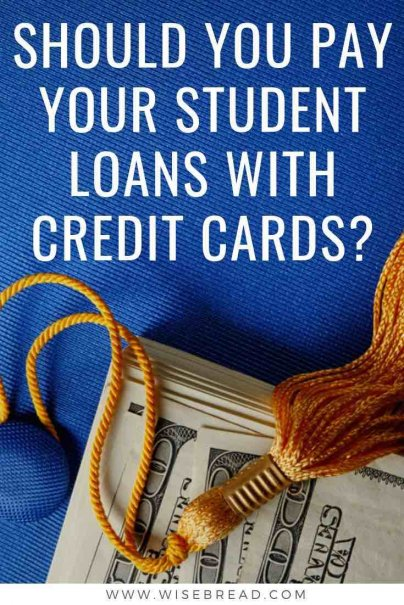 Is it possible to use credit cards to pay off monthly student loan payments, in order to pay less interest and reap the benefits of earning credit card rewards? The answers might surprise you. | #creditcards #studentdebt #studentloan