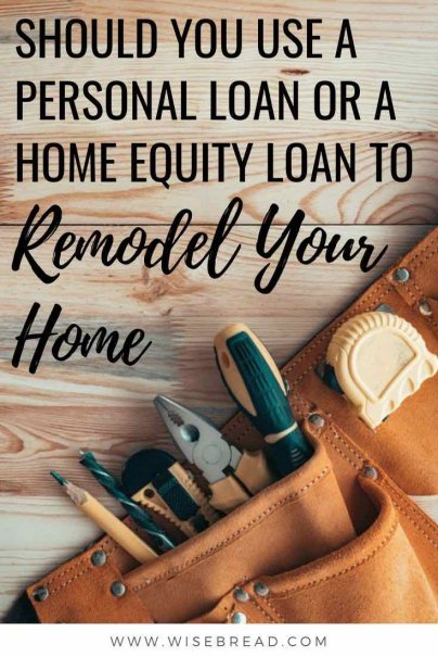 Remodelling your home can be an expensive and pricey venture. If you need to borrow the money for the project, we've got the tips to help you choose between a personal loan or a home equity loan, and which is the best option for you. | #rennovations #homeloan #debtadvice