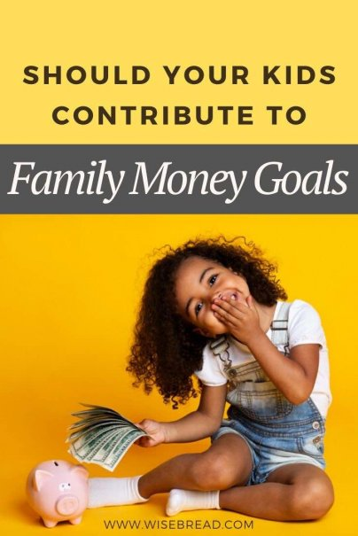 Could there be some good in asking children to contribute financially to family goals? Here's what you need to know #family #budgeting #savemoney