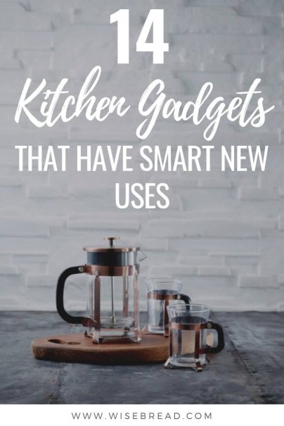 Did you know there are some multiple uses for these common kitchen gadgets. Save money by repurposing your old wares and so you can use them to their full potential! | #kitchentools #homehacks #kitchentips