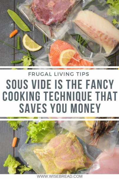 Have you ever tried to meal prep and cook sous vide style? It can actually help you save you time and money! Check out how Sous Vide can be a great way to cook steaks, vegetables, chicken and more, for cheap! | #frugalliving #frugalfood #cheapmeals