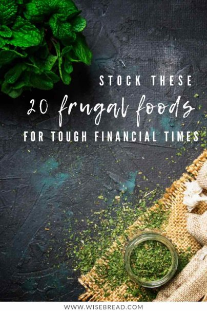 Want some frugal food items so you can make budget meals for large families? We've got the cheap food item essentials that you can call upon when you are saving money! Get to the grocery store to stock up your fridge and pantry with our tips! | #frugalfood #cheapfood #frugalliving