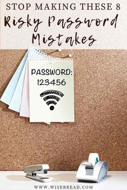 Too many of us still rely on simple passwords that make us easy targets for hackers. Want to boost your online security and keep your personal information safe from hackers? Then here are some key password mistakes to avoid. | #hackers #passwordtips #passwordmistakes
