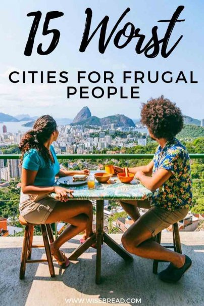 Frugal living can be a challenge anywhere, but not all destinations are cheap and budget friendly. Read on for our roundup of the worst cities for living on a budget. | #traveldestinations #worldtravel #cheaptravel