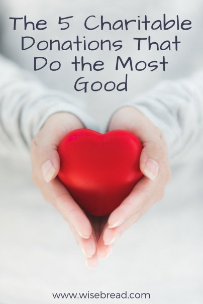 The 5 Charitable Donations That Do the Most Good