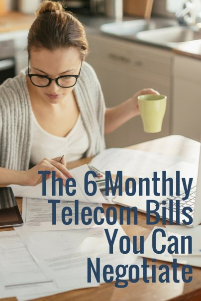 The 6 Monthly Telecom Bills You Can Negotiate
