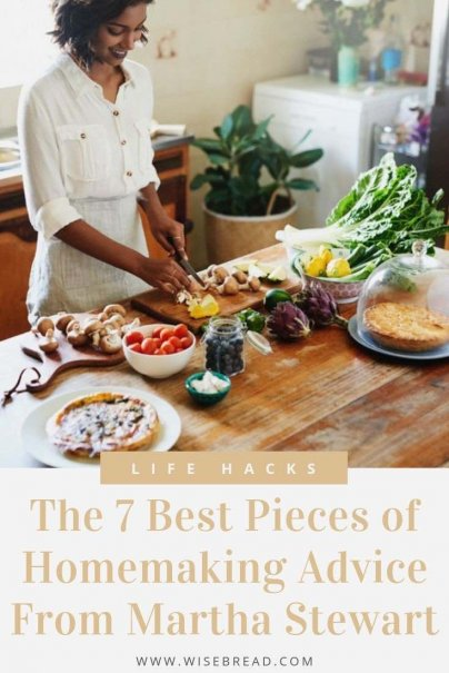 Love Martha Stewart? Here's a collection of some of her most useful advice on anything from flavoring foods to cleaning your grungy down comforters. | #lifehacks #cookingtips #cleaninghacks