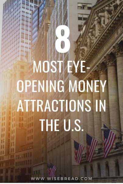 If you get excited about money, check out these unique money attractions across the U.S. From the US Mint, to The Charging bull on Wall street, the New York Fed Gold Vault and more, these are the 8 tourism attractions that will get you thinking about you personal finances! | #personalfinance #USAtravel #moneymatters