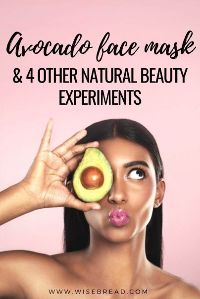 Want to do a DIY face mask? From avocado masks to egg white masks, here are some thrifty natural beauty treatments you need to try. | #naturalbeauty #facemask #DIYbeauty