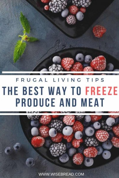 Buying meat and produce in bulk can save you money, it can also mean lots of freezing — freezing the leftovers, freezing items that are in season now so you have them for later. Here are the tips to properly freeze produce, meat, and more. | #freezingmeat #frugalliving #frozen