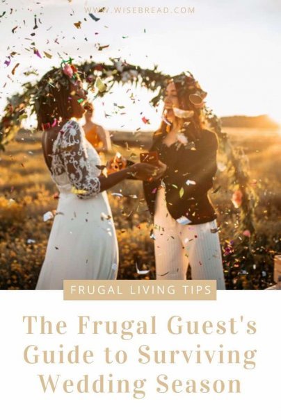 Want some tips on how to make it through wedding season without spending too much money? We've got some frugal ideas to help you get through it on budget. | #frugaltips #frugalwedding #weddingtips