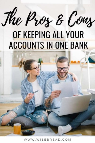 Checking, savings, business, CD, money market, cash reserve, investment, there are so many accounts availability. So should you keep all your bank accounts in the one place with a single financial institution? We've got the pros and cons to help you make your choice. | #financetips #banking #moneytips