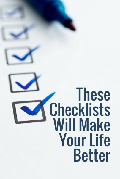 These Checklists Will Make Your Life Better