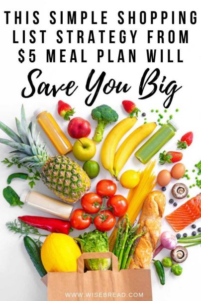 Want to save money on your groceries? Here's how this simple shopping list strategy can save your personal finances. | #moneymatters #personalfinance #financetips