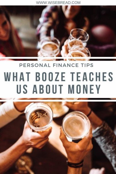 Did you know that there are some positive benefits to responsible drinking of wine, beer, or whiskey. We've got some ways drinking booze can teach you about money. | #financetips #personalfinance #moneytips