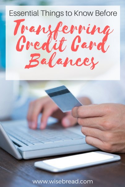What You Must Know Before Transferring Credit Card Balances