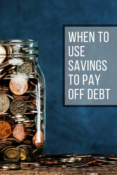 When to Use Savings to Pay Off Debt