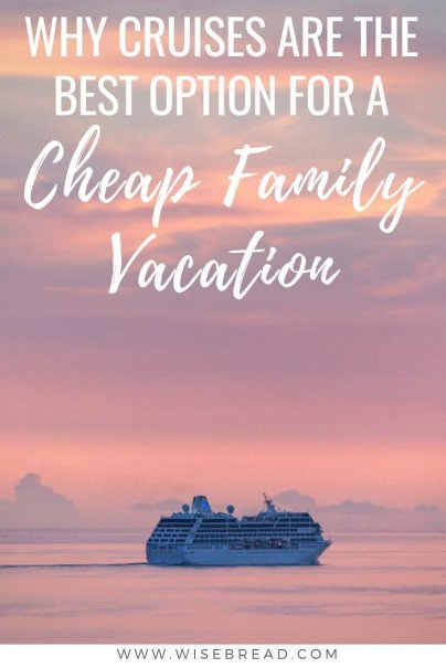 Planning a family vacation can end up being stressful and expensive. But did you know that cruises can be a great budget friendly and affordable option for your family holiday? We've got the reasons why cruising is a frugal way to travel with kids! | #cheapvacation #familyvacation #travel