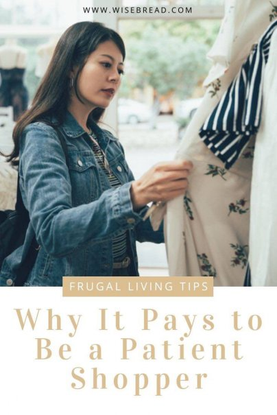 What type of shopper are you? We've got the reasons why it pays to be a patient shopper. | #frugalliving #frugaltips #shoppinghacks