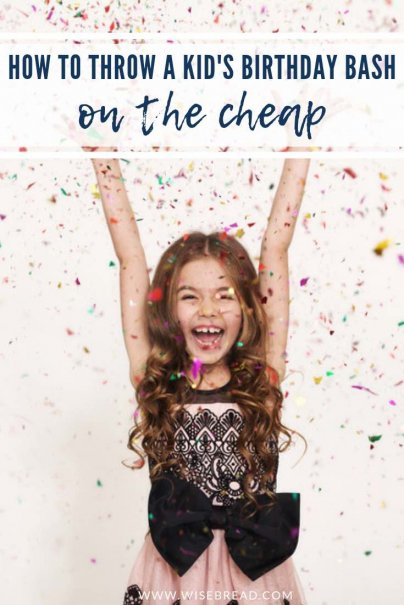 Need some ideas on how you can plan a kids party on the cheap? We've got the tips to help you stick to your budget while hosting an awesome party! | #frugalliving #frugalparty #kidsparty #cheapparty